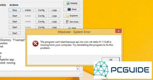 """Cách sửa lỗi """"The program can't start because api-ms-win-crt-runtime-l1-1-0.dll is missing from ..."""